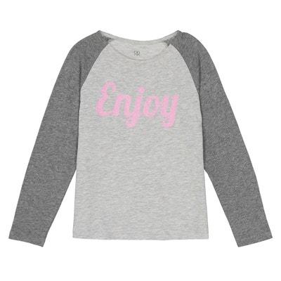 """T-shirt manches longues """"enjoy pailleté"""" 3-12 ans T-shirt manches longues """"enjoy pailleté"""" 3-12 ans LA REDOUTE COLLECTIONS"""