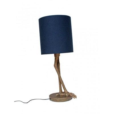 Lampe à Poser Bipède et son Abat-jour Bleu WADIGA