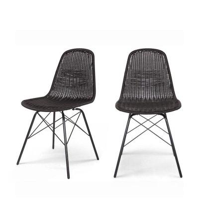 lot de 2 chaises indooroutdoor en rsine tresse clarice lot de 2 chaises indoor - Chaise En Resine Tressee
