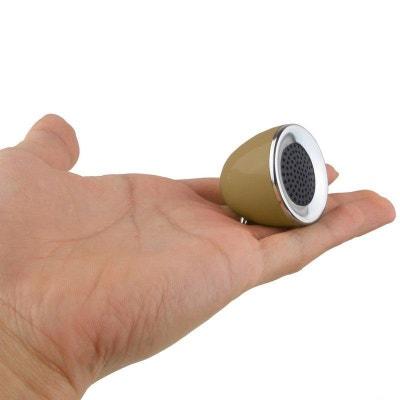 Mini enceinte portable jack 3.5 MP3 Smartphone Tablette Or Yonis
