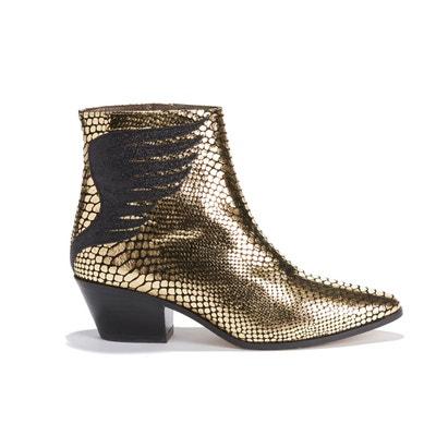 150b654e88559 Boots cuir Exclusivité Brand Boutique Boots cuir Exclusivité Brand Boutique  PATRICIA BLANCHET