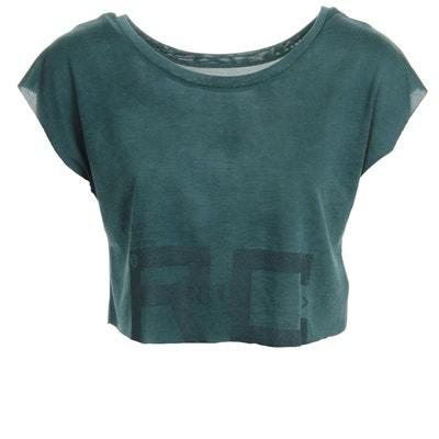 T-shirt femme Combat Spraydye Crop Tee REEBOK 872f5f479174