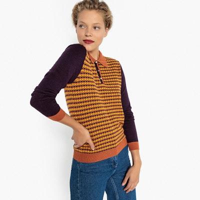 Żakardowy sweter z kołnierzykiem polo Żakardowy sweter z kołnierzykiem polo MADEMOISELLE R