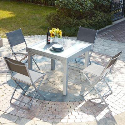 Table de jardin aluminium extensible en solde   La Redoute
