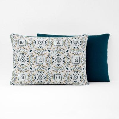 KEYIAH Patterned Cotton Pillowcase KEYIAH Patterned Cotton Pillowcase La Redoute Interieurs