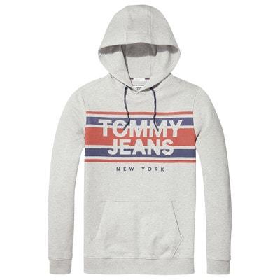 Sweater met kap en print vooraan Sweater met kap en print vooraan TOMMY JEANS