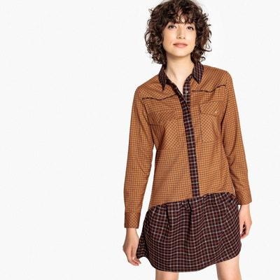Robe à carreaux bicolore, col chemise, à basque Robe à carreaux bicolore, col chemise, à basque LA REDOUTE COLLECTIONS