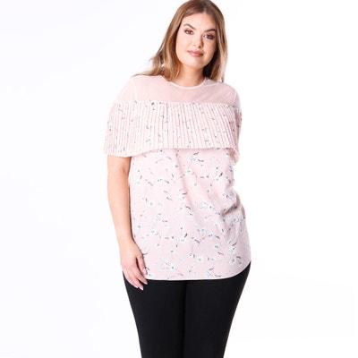 Блузка с круглым вырезом и цветочным рисунком Блузка с круглым вырезом и цветочным рисунком KOKO BY KOKO