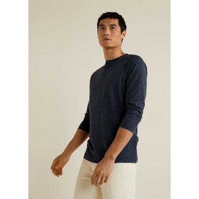 T-shirt coton col tunisien T-shirt coton col tunisien MANGO MAN ec6c369d8dda