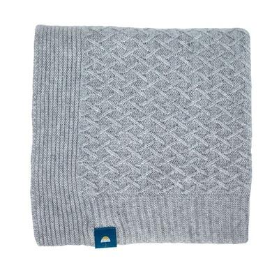 Couverture bébé en laine tricot hiver moelleuse et chaude Collection Cocoon PLICK PLOCK