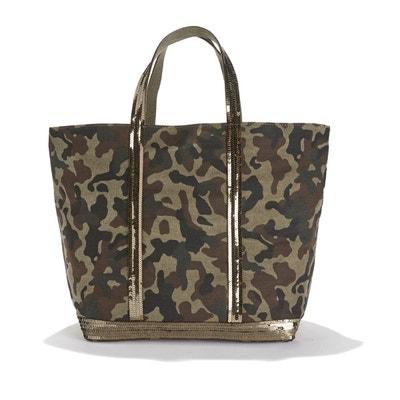 Cabas toile imprimé camouflage et sequins Cabas toile imprimé camouflage et sequins VANESSA BRUNO