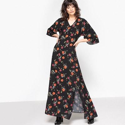 Vestido largo con estampado de flores La Redoute Collections