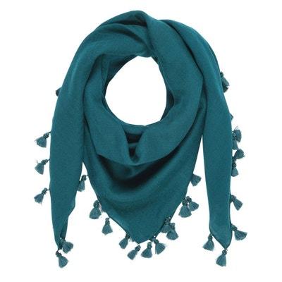 Foulard uni avec pompon et perles 100% laine Foulard uni avec pompon et perles 100% laine TIE RACK