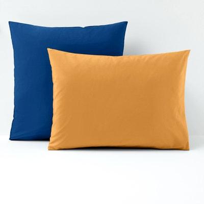 Fronha de almofada bicolor, percal de algodão Fronha de almofada bicolor, percal de algodão La Redoute Interieurs