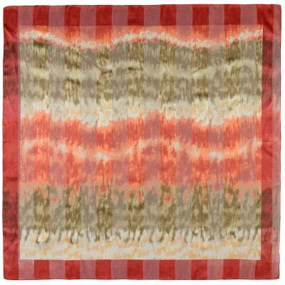 5cb8d0dc738a Foulard carré mousseline Fluctus Rouge Foulard carré mousseline Fluctus  Rouge ALLEE DU FOULARD