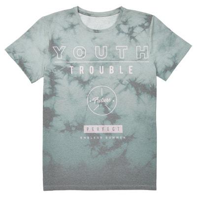 T-shirt scollo rotondo fantasia 10-16 anni T-shirt scollo rotondo fantasia 10-16 anni La Redoute Collections