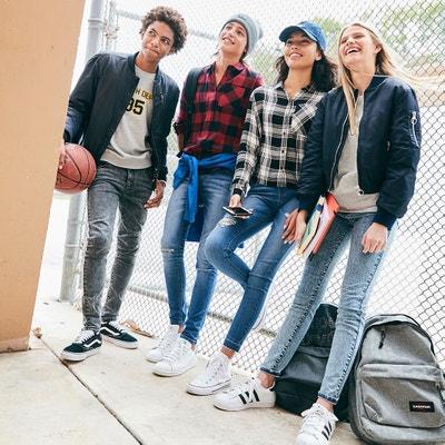 Skinny-Jeans mit hohem Bund und Acid-Waschung, 10-16 Jahre Skinny-Jeans mit hohem Bund und Acid-Waschung, 10-16 Jahre La Redoute Collections