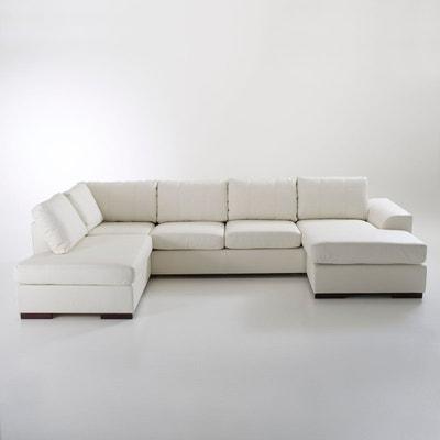 canape cuir blanc en solde la redoute. Black Bedroom Furniture Sets. Home Design Ideas
