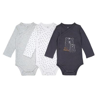 Lot de 3 bodies naissance en coton bio Préma-2 ans La Redoute Collections