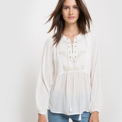 Blusa de mangas compridas, bordados SUNCOO SUNCOO