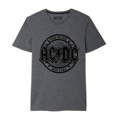 T-shirt estampada, gola redonda, AC DC T-shirt estampada, gola redonda, AC DC ACDC