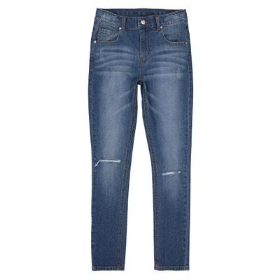 Jeans skinny rasgados nos joelhos, 10-16 anos Jeans skinny rasgados nos joelhos, 10-16 anos La Redoute Collections