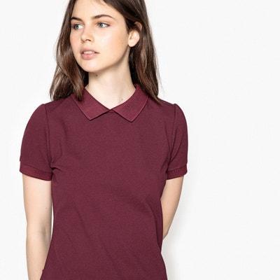 T-shirt com gola polo, mangas curtas, botões atrás T-shirt com gola polo, mangas curtas, botões atrás La Redoute Collections