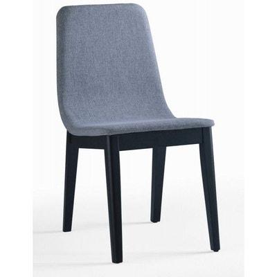 chaise salle a manger bois et tissu la redoute. Black Bedroom Furniture Sets. Home Design Ideas