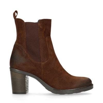 Chelsea boots en daim à talon Chelsea boots en daim à talon SACHA. Soldes.  SACHA 50b2ad1e51b7