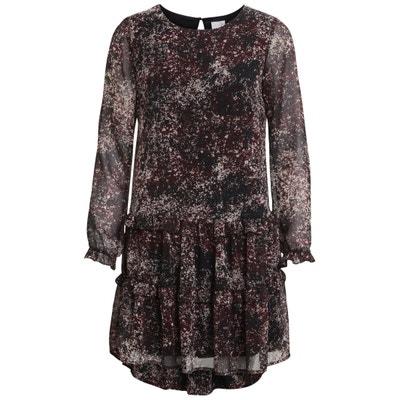 Printed Dress with Ruffles Printed Dress with Ruffles VILA