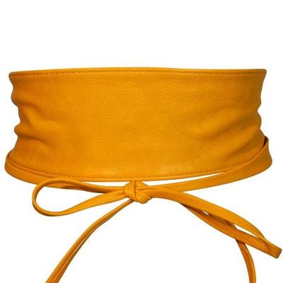 ceinture large jaune CHAPEAU-TENDANCE