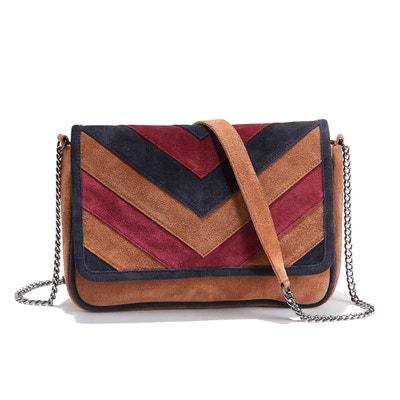 Suede Three-Tone Handbag Suede Three-Tone Handbag La Redoute Collections