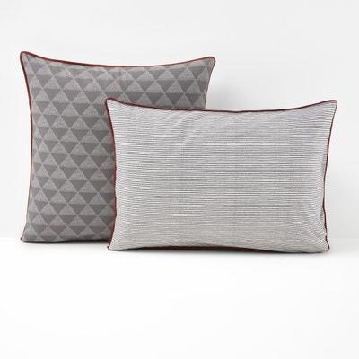Issor Grey Single Pillowcase Issor Grey Single Pillowcase La Redoute Interieurs