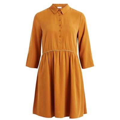 Kleid mit Hemdkragen, Details aus Lurex-Effektgarn Kleid mit Hemdkragen, Details aus Lurex-Effektgarn VILA