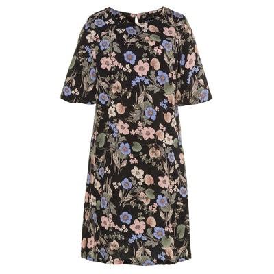 Robe imprimée fleurs mi-longue, manches courtes ULLA POPKEN