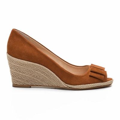 Sandales compensées, cuir, Mayana2 Nub Sandales compensées, cuir, Mayana2  Nub COSMOPARIS. Soldes 23721609344b