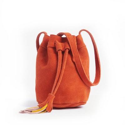 Handtasche aus Spaltleder, Sackform Handtasche aus Spaltleder, Sackform MADEMOISELLE R