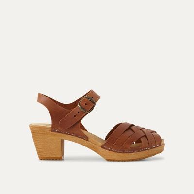 Sandales cuir à bout tressé Sandales cuir à bout tressé LEON and HARPER