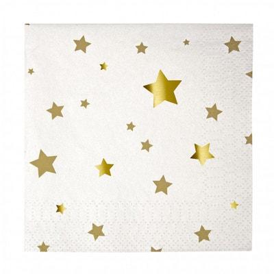 Serviette en papier Etoile doré Serviette en papier Etoile doré MERI MERI