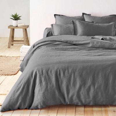 housse de couette gris la redoute. Black Bedroom Furniture Sets. Home Design Ideas