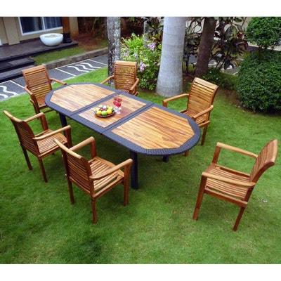 Salon de jardin en teck huile en solde | La Redoute