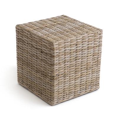 Пуф в форме куба из ротанга под ноги, INQALUIT La Redoute Interieurs