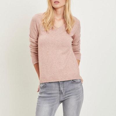 Sweter z dekoltem w kształcie litery V z cienkiej dzianiny Sweter z dekoltem w kształcie litery V z cienkiej dzianiny VILA