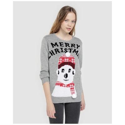 Pull à imprimé de Noël et pompon Pull à imprimé de Noël et pompon EASY WEAR