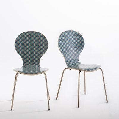 Watford Set of 2 Stackable Print Chairs Watford Set of 2 Stackable Print Chairs La Redoute Interieurs