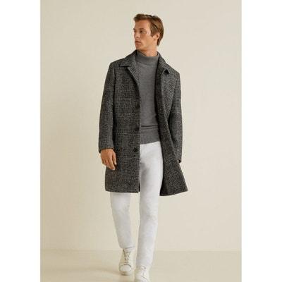 02a525c519fad Manteau laine à carreaux prince-de-galles MANGO MAN
