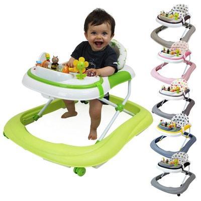 915cf75625046e Trotteur bébé évolutif musical, pliable et réglable en hauteur - Rose  Trotteur bébé évolutif musical. MONSIEUR BEBE