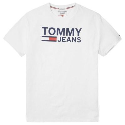 Tee shirt  col rond manches courtes imprimé devant TOMMY JEANS