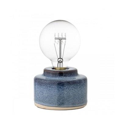Lampe de Table en Porcelaine Bleue BLOOMINGVILLE