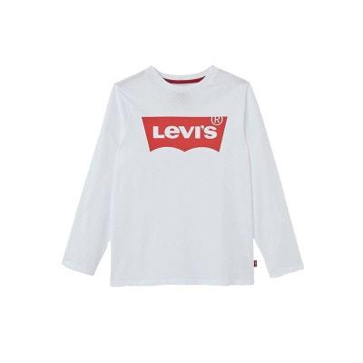 Tee-shirt manches longues col rond   en coton   floqué du logo Tee-shirt manches longues col rond   en coton   floqué du logo LEVI'S KIDS